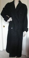 Vintage London Fog Tempo Europa Black Full-Length Winter Coat Medium