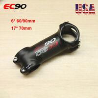 EC90 MTB Mountain Bike Stem Aluminum Alloy 6/17°Bicycle Handlebar Bar Stem 1-1/8