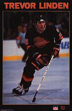 VINTAGE POSTER~Trevor Linden 1990 Vancouver Canucks Starline Original 23x35 RARE