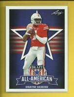 Dwayne Haskins RC 2019 Leaf Draft All-American Rookie Card Ohio State Redskins