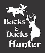 Bucks Ducks Hunter - Die Cut Vinyl Window Decal/Sticker for Car/Truck