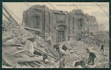 L'Aquila Avezzano Terremoto cartolina QQ3882