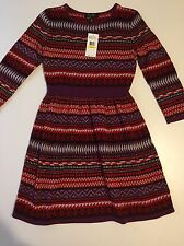NWT!  Girl's Sweater Geometric Print Dress by Jessica Simpson, Size: Med, $59