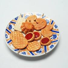 "CHRISTINE VIENNET FRENCH ART POTTERY TROMPE L'OEIL PLATE ""BISCUITS"""
