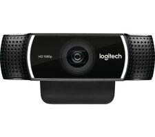 LOGITECH C922 Full HD 1920 x 1080p Webcam - Black - Built-in microphone