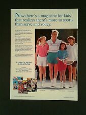 1989 Chris Evert Women's Tennis Pro SI~Sports ILLustrated Kids Magazine Photo AD