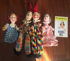4 vintage Plush Head puppets Punch and Judy Lot 5pcs Total 1 Playbill