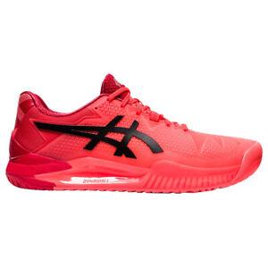 Asics Gel Resolution 8 Tokyo Red Black Mens Tennis Shoes