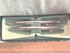 Vintage Writing Instruments Pen & Pencil Set Sheaffer White Dot Chrome Box