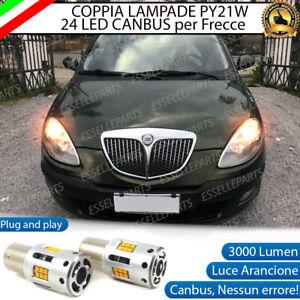 COPPIA LAMPADE PY21W BAU15S CANBUS 24 LED LANCIA YPSILON 843 FRECCE ANTERIORI