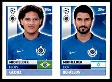 Topps CL 2016-17 BRU14/BRU15 Lior Rafaelov/Felipe Gedoz Club Brugge KV