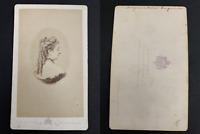 Le Jeune, Paris, Eugénie de Montijo, impératrice CDV vintage albumen print.