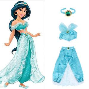 Aladdin Princess Jasmine Adult Cosplay Women Fancy Dress Party Costume Halloween