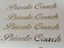 (2) Chrome Vinyl Private Coach Business Trucking Bus Limo Decal Stickers