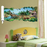 1pc 3D Dinosaur Remonable Cool Wall Sticker Kids Bedroom Decal Mural Art Decor