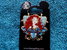 Disney * MERIDA - BRAVE * JEWELED PRINCESS CREST * New on Card Trading Pin