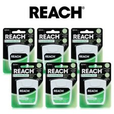 6 x REACH Cleanburst 50m Waxed Floss - Spearmint