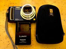 Panasonic LUMIX DMC-TZ5 9.1MP Digital Camera - Blue TESTED,w/charger Case,EXC++