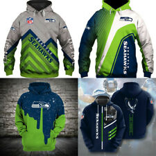 Seattle Seahawks Hoodies Football Sweatshirt Men's Casual Jacket Hooded Pullover