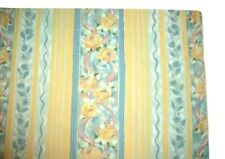 "Croscill Fiesta Curtain Set (2) Lined Panels Yellow Blue Pink Floral Stripe 84""L"
