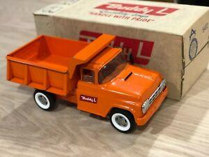 Museum Quality, Beautiful Orange, Buddy L Pressed Steel Dump Truck, ORIGINAL BOX