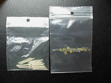 Straight Razor Repair Kit 8 Sets of NICKEL/SILVER Pins Washers & Pivot Washers