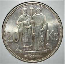 02 - Slovakia 20 Korun 1941 Brilliant Uncirculated Silver Coin - Nice!!!