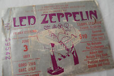 LED ZEPPELIN 1977 Original__CONCERT TICKET STUB__**RIOT SHOW**__Tampa, FL