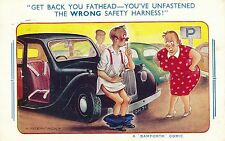 POSTCARD   COMIC  BAMFORTH COMIC Series No 1876  Motoring Related....