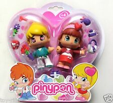 PINYPON 2 PACK BLOND BOY & BROWN HAIR GIRL DOLLS AS IMAGE - NEW & SEALED!