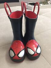 Rain Boots Boy's Western Chief Size 5 Spider-Man Red Black Used Once!