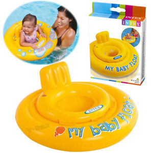 Intex baby float Swim Seat Support Pool Inflatable Aid Ring 6-12 Months