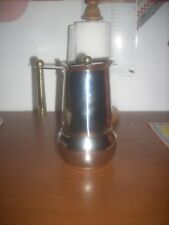 caffettiera in acciaio inox 18/10  lusso GB  Guido Bergna 6 tazze + riduttore