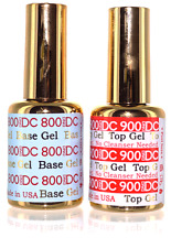 DND DC GEL - Base & No Wipe Non Cleanse Top Gel Set - NEW LARGER SIZE .6 FL OZ