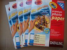 lot de 5 paquets de 15 feuilles PAPIER PHOTO DATALINE  format A4 177 g