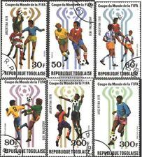 Togo 1300A-1305A (edición completa) usado 1978 Fútbol-WM en Argentenien