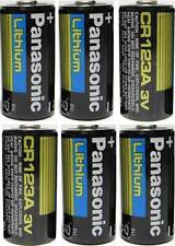6 Panasonic 3V Lithium CR123A Batteries for Camera Flashlight 2028