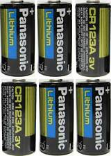 6 Panasonic 3V Lithium CR123A Batteries for Camera Flashlight 2026
