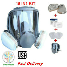 Us Full Face Gas Mask Painting Spraying Respirator w/Filters for 6800 Facepiece