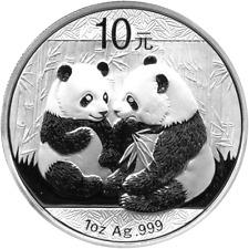1 OZ CHINA PANDA 2009 10 YUAN TOP ANLAGE !!!