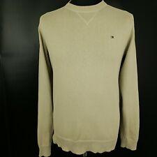 Tommy Hilfiger Mens Jumper MEDIUM Gold Cotton Pullover Sweater Knit