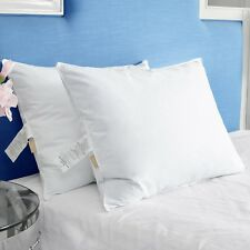 Puredown® Set of 2 Goose Down Feather Firm Pillows for Side and Back Sleepers
