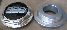 BBS RS Polished Billet Aluminum Center Hub Cap 1/2 Height 15mm -Large Threads-1