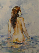 Contemporary Art/ Original painting by American Artist Grace Eun Jung / Nude