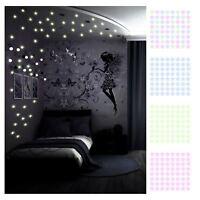 100 x Glow in the Dark Stars Ceiling Night Light Childrens Bedroom Decoration UK