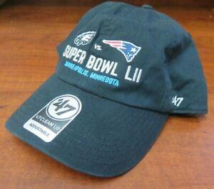 Philadelphia Eagles Super Bowl LII 52 Dueling Logo's 47' Clean up Strapback Hat