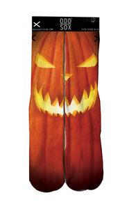 Odd Sox Orange Jack O'Lantern Halloween Pumpkin Tube Socks OSFALL2JACK NWT