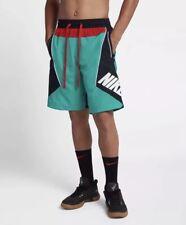 NEW Sz LG Nike Sportswear Throwback Nylon Basketball Shorts New Green AJ3673-396