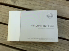 NISSAN FRONTIER 2013 - Owner's Manual - IN FRENCH - XF