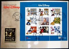 2001 PORTUGAL WALT DISNEY STAMPS FDC MICKEY MOUSE MINNIE GOOFY PLUTO DONALD DUCK